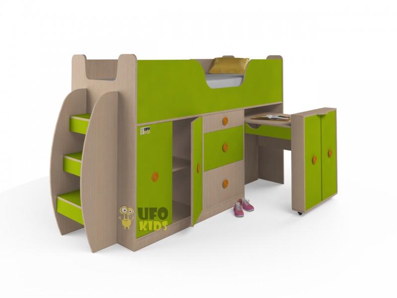 Кровать Чердак со столом к013 кровати-чердаки уфокидз ufokid.